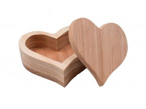 Dřevěná šperkovnice - srdce