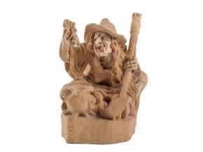 Čarodějnice - vyřezávaná socha