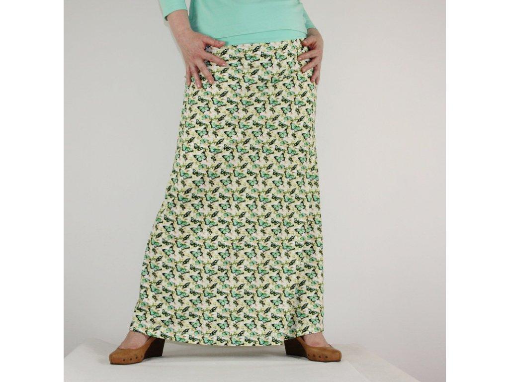 Maxi sukně - Motýlí rej