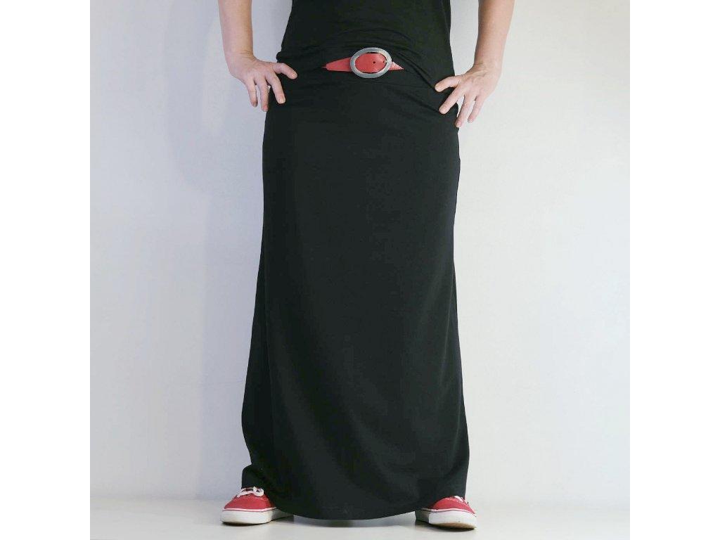 Maxi sukně - ČERNÁ