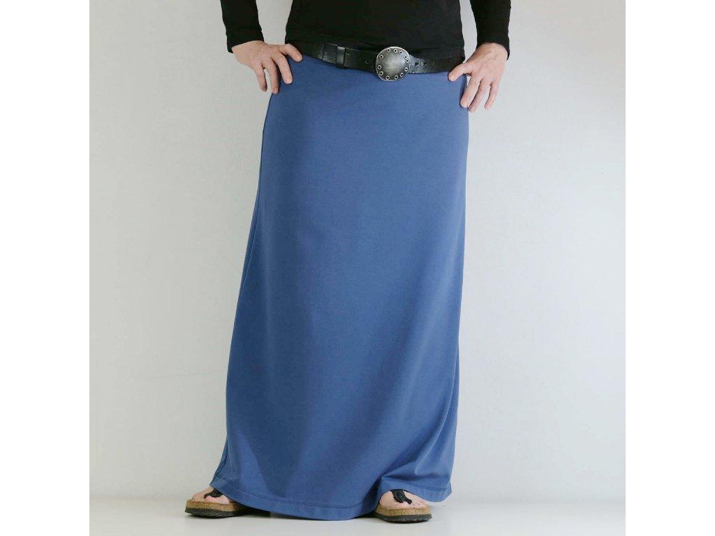 Maxi sukně - MODRÁ