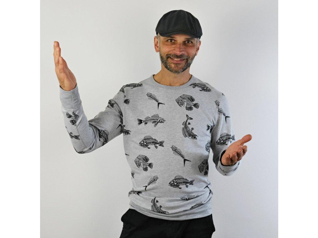 Pánské triko/mikina Rybí skelet