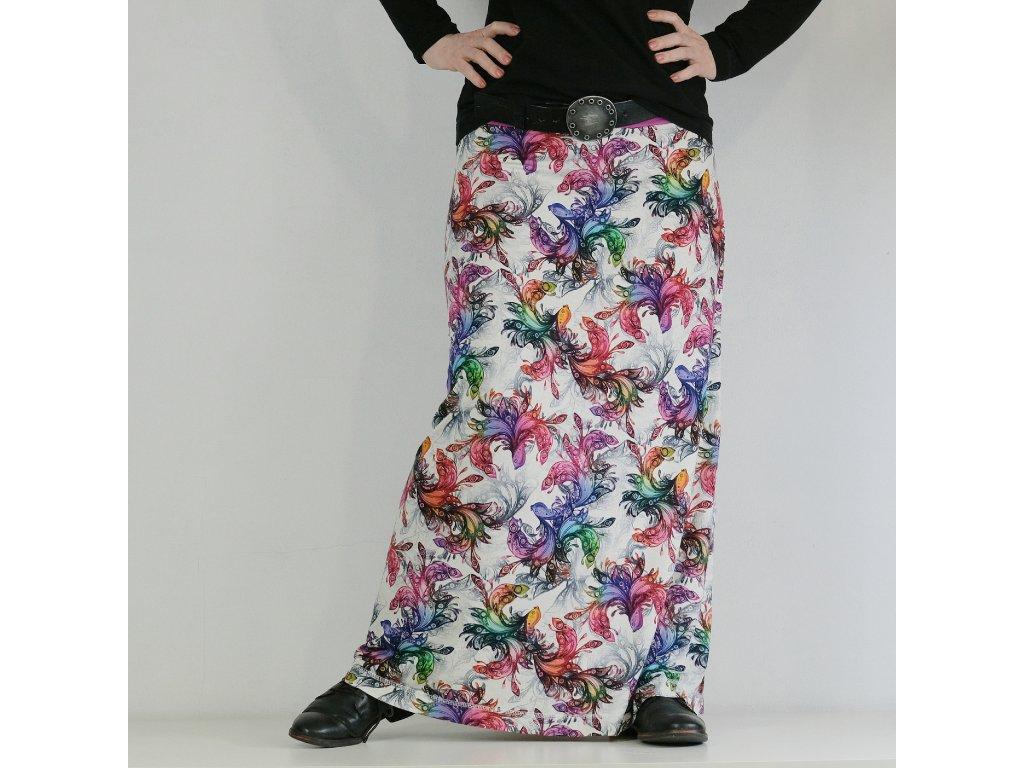 Maxi sukně - barevná