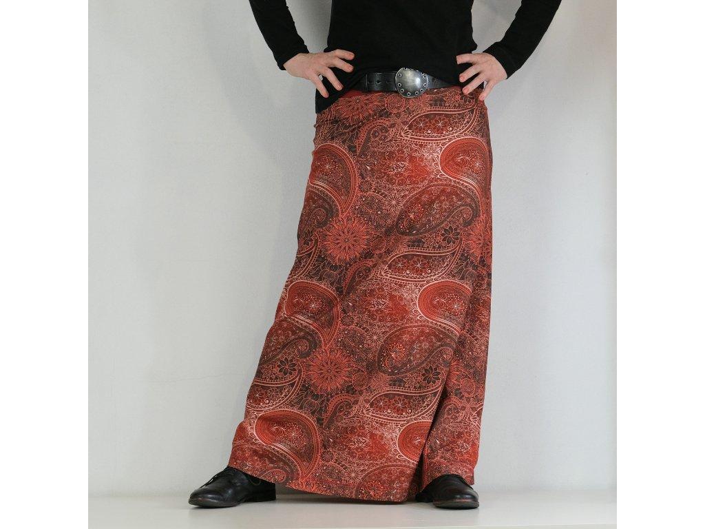 Maxi sukně - Do červena
