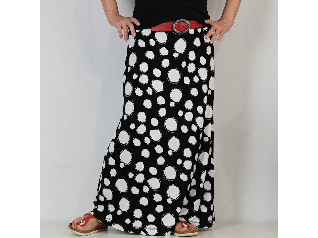 Maxi sukně - Černobílé bubliny