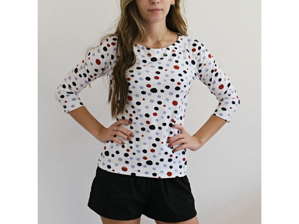 Tričko - barevné puntíky