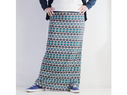 Maxi sukně - Retro vzor