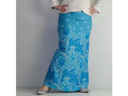 Maxi sukně - modrobílá bordura