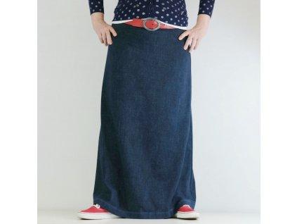 Maxi sukně - MODRÝ DENIM