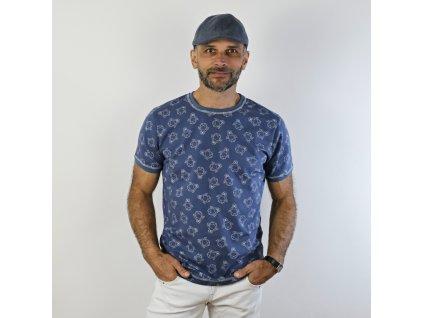 Pánské triko - medvědi na modré