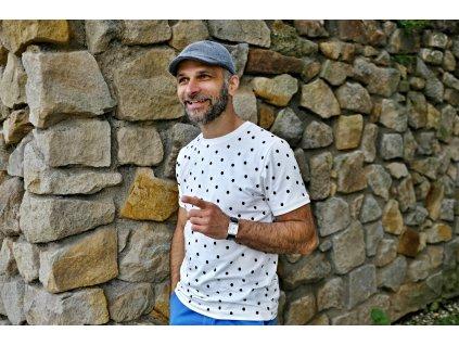 Pánské triko - Kaňky na smetanové