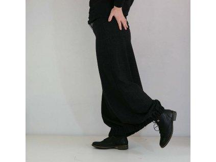 Dlouhá sukně do gumy - černý denim