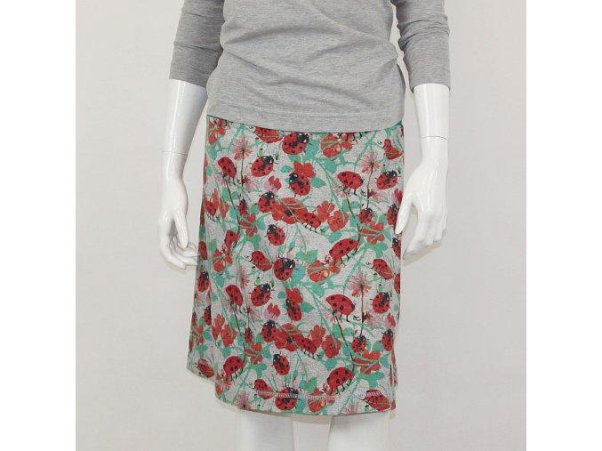 Krátká sukně - Berušky na šedé