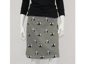 Krátká sukně - PANDY na khaki