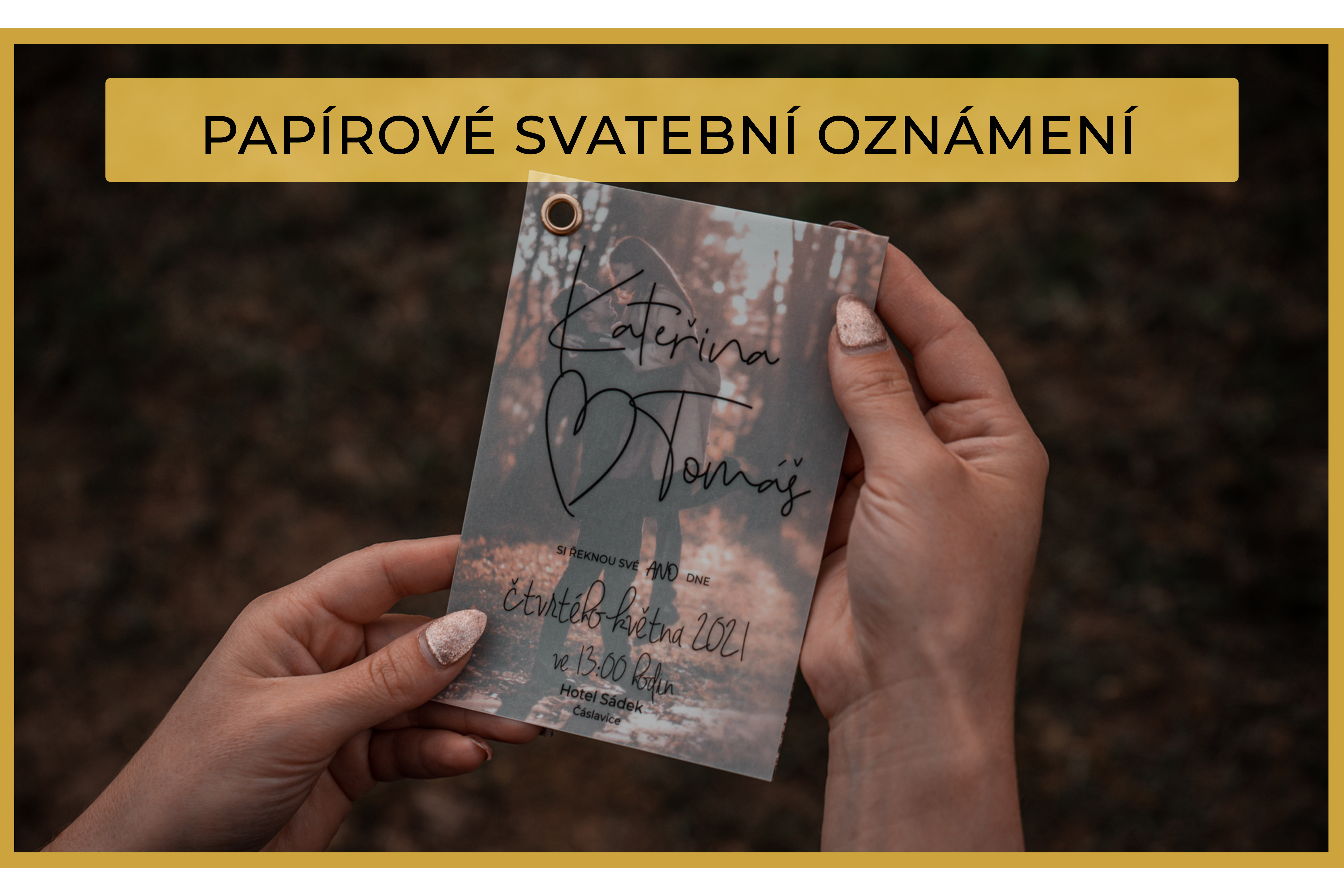 Papírové oznámení