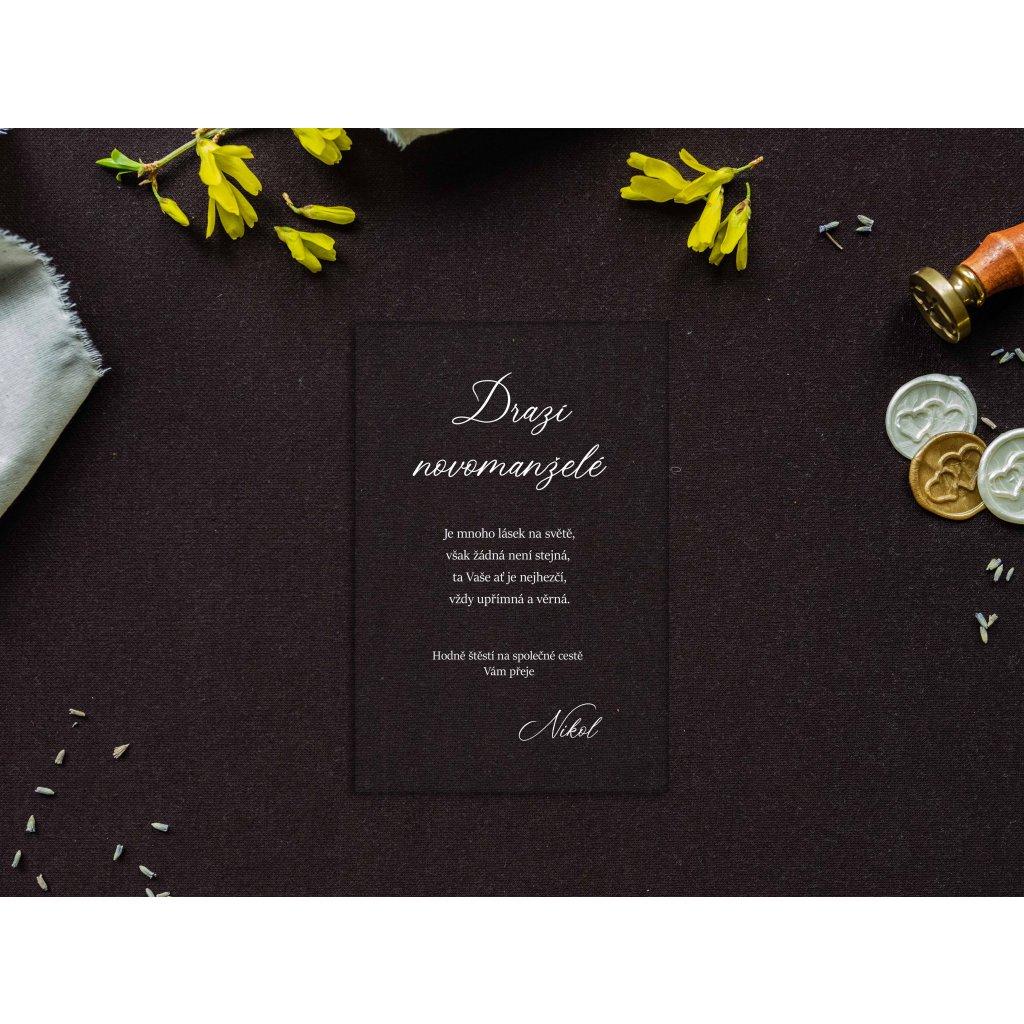 Blahopřání novomanželům