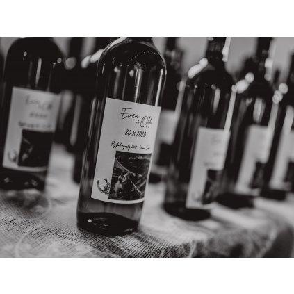 Etikety na víno 8ks