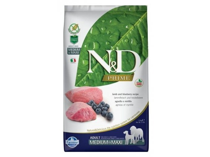 n d grain free dog adult lamb blueberry