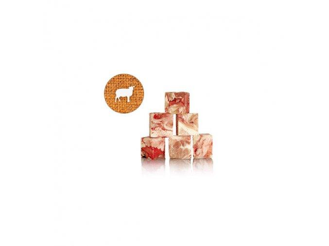 graf barf jehneci maso kostky 25x25cm 1 kg geschlinge mix