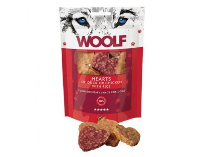 woolf pochoutka welcome hearts 100g