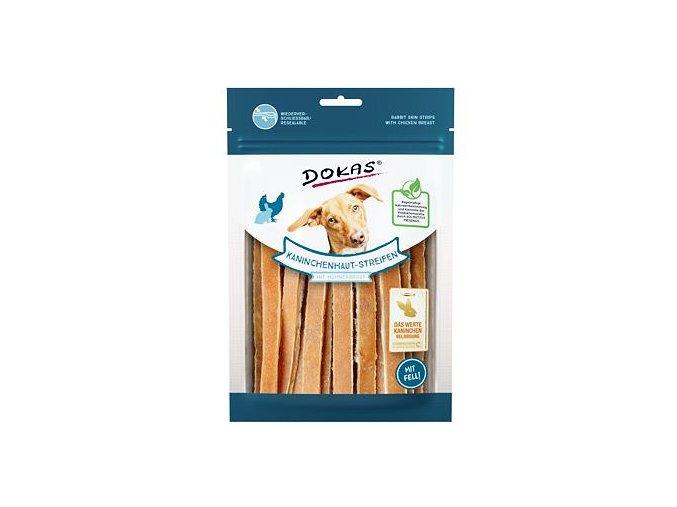 Dokas – Proužky králičí kůže s kuřecím filetem 120 g