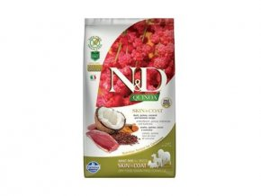 n d gf quinoa dog skin coat duck coconut 2 5kg 88207
