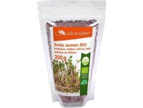 Zdravý den Směs semen na klíčení BIO brokolice, červená ředkev, jetel 200 g