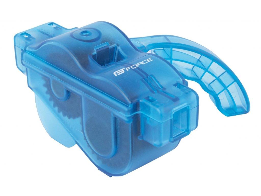 čistička řetězů FORCE plastová s rukojetí, modrá