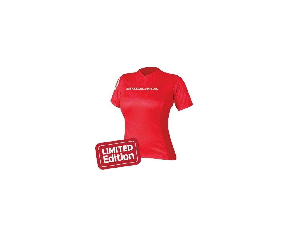 Dámský triko Endura SingleTrack - červené - E6080RD