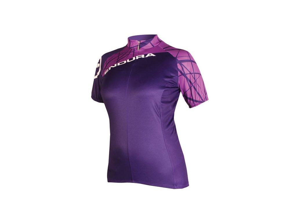 Dámský dres Endura Singletrack - fialový - E6079PU