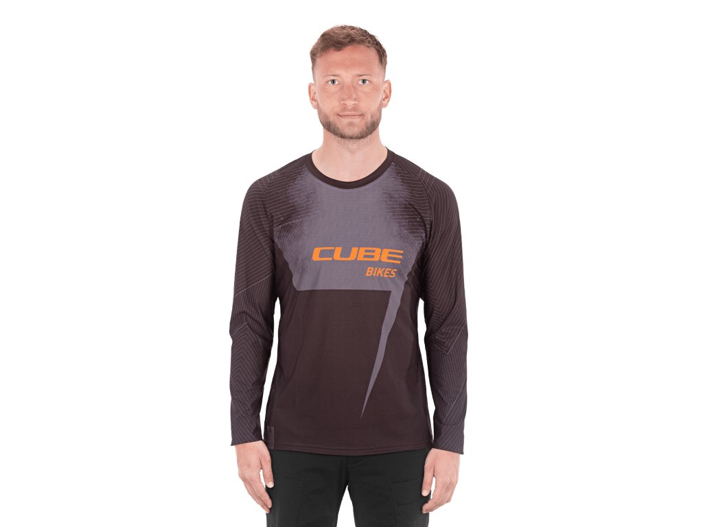 Dres Cube EDGE Round Neck Jersey L/S black´n´orange