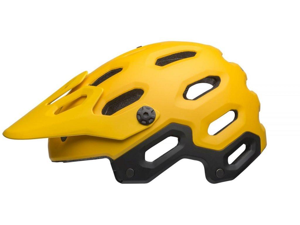 Přilba BELL Super 3 Mat Yellow/Coal  vel. M
