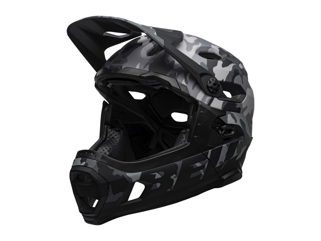 Přilba BELL Super DH Spherical Mat/Glos Black Camo