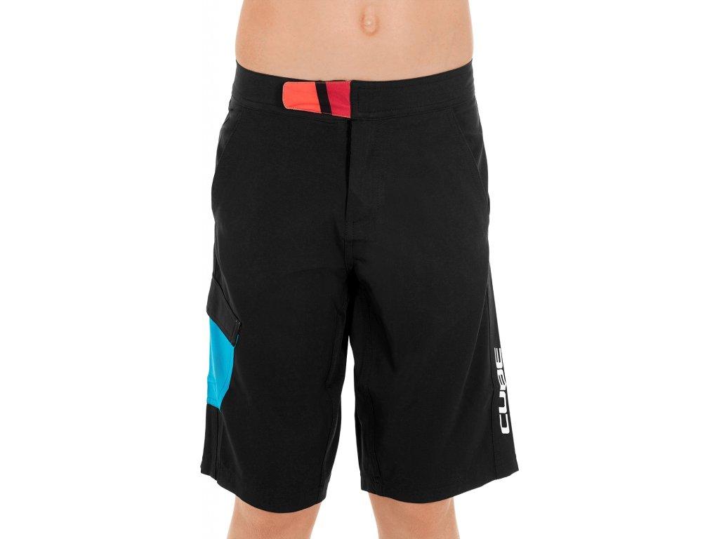 Dětské kraťasy CUBE JUNIOR Shorts  black-blue