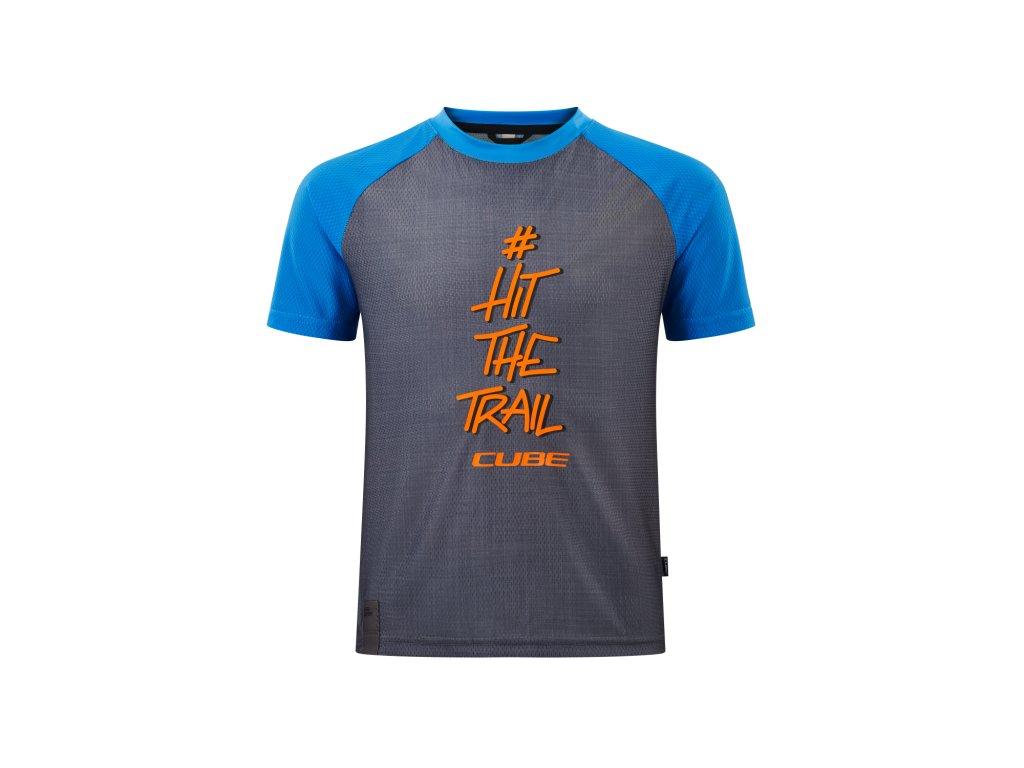CUBE dres JUNIOR Grey-Blue