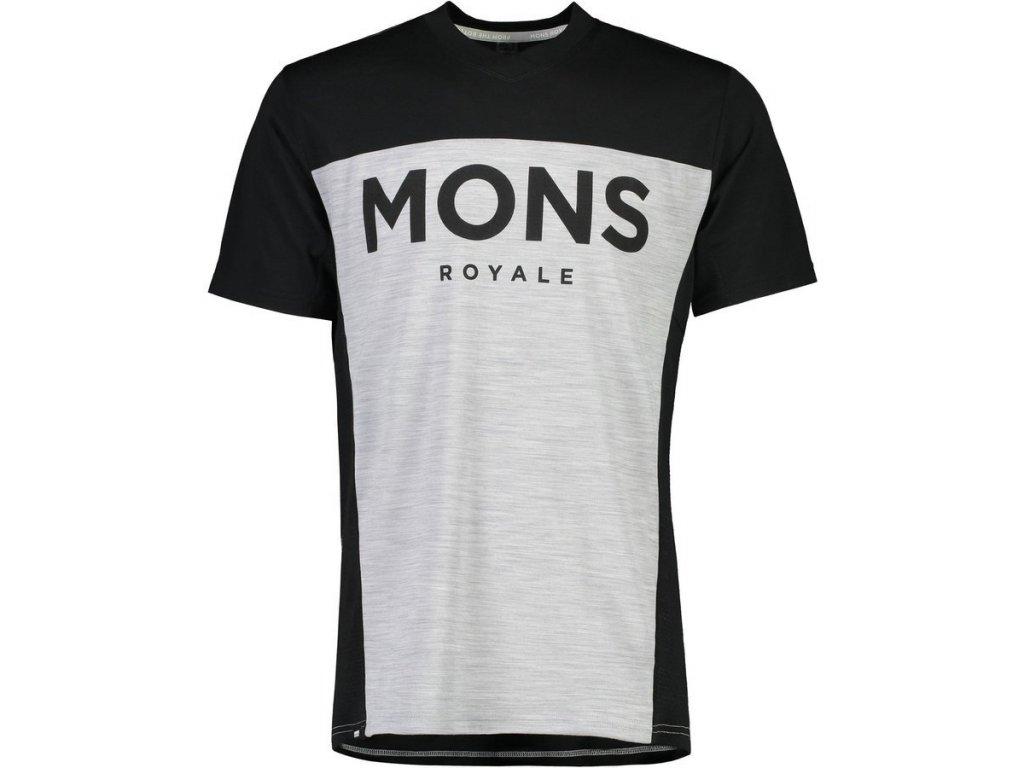 merino triko mons ROYALE Redwood Enduro VT Black/Grey Marl