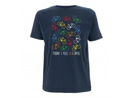 """T-shirt """"Kolorful"""" man Denim Blue"""
