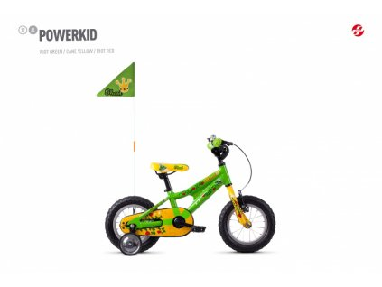 ghost powerkid 12 green yellow red original