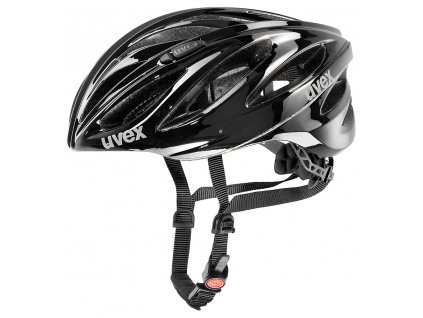 UVEX HELMA BOSS RACE, WHITE-BLACK