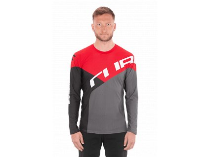 Dres Cube EDGE Round Neck Jersey L/S black´n´red