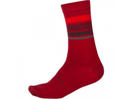 Ponožky Endura Merino Stripe - E1234RD