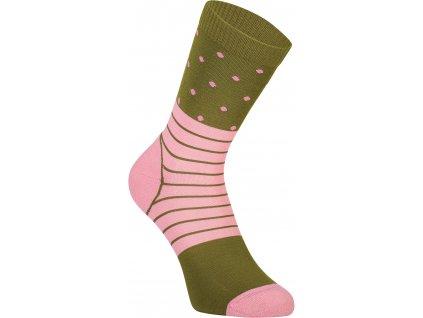 merino ponožky ALL ROUNDER CREW SOCK khaki rose