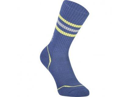 merino ponožky SIGNATURE CREW SOCK ink / lemon