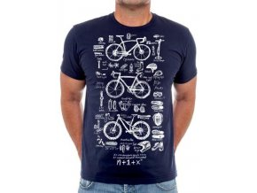 Bike Maths Navy Mens Tee 350x