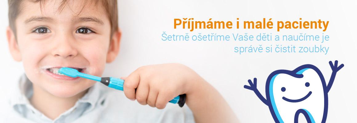 Zubni hygiena, prijmame pacienty, deti