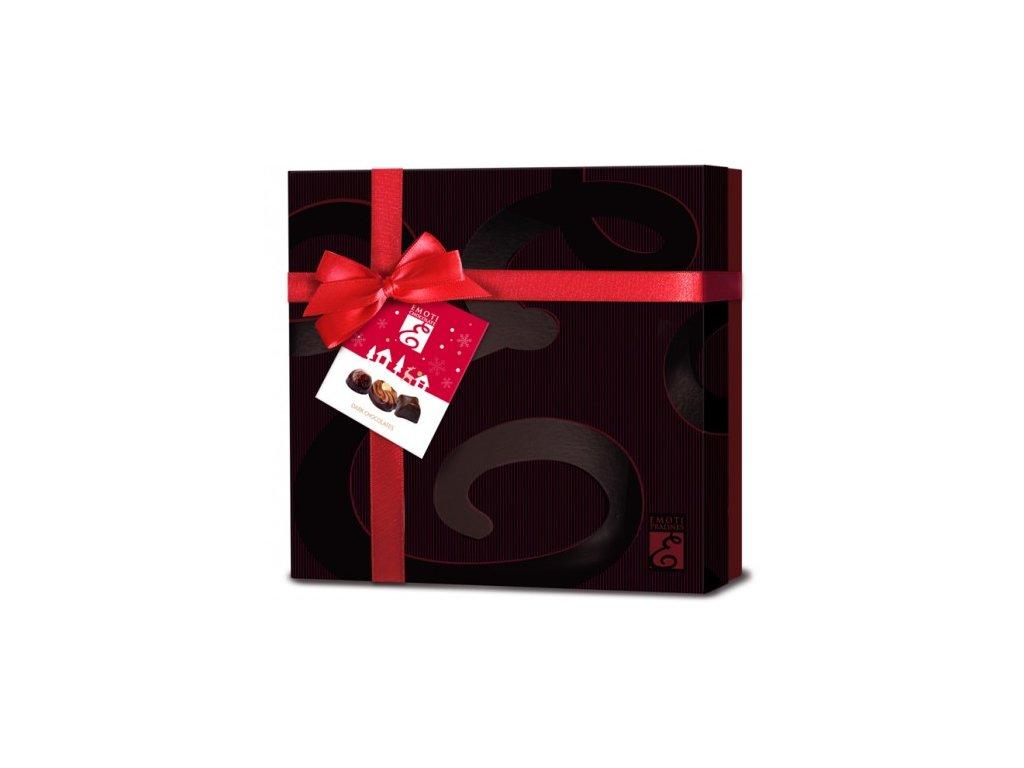 Emoti La Palette Výběr belgických hořkých pralinek 207g červená mašle