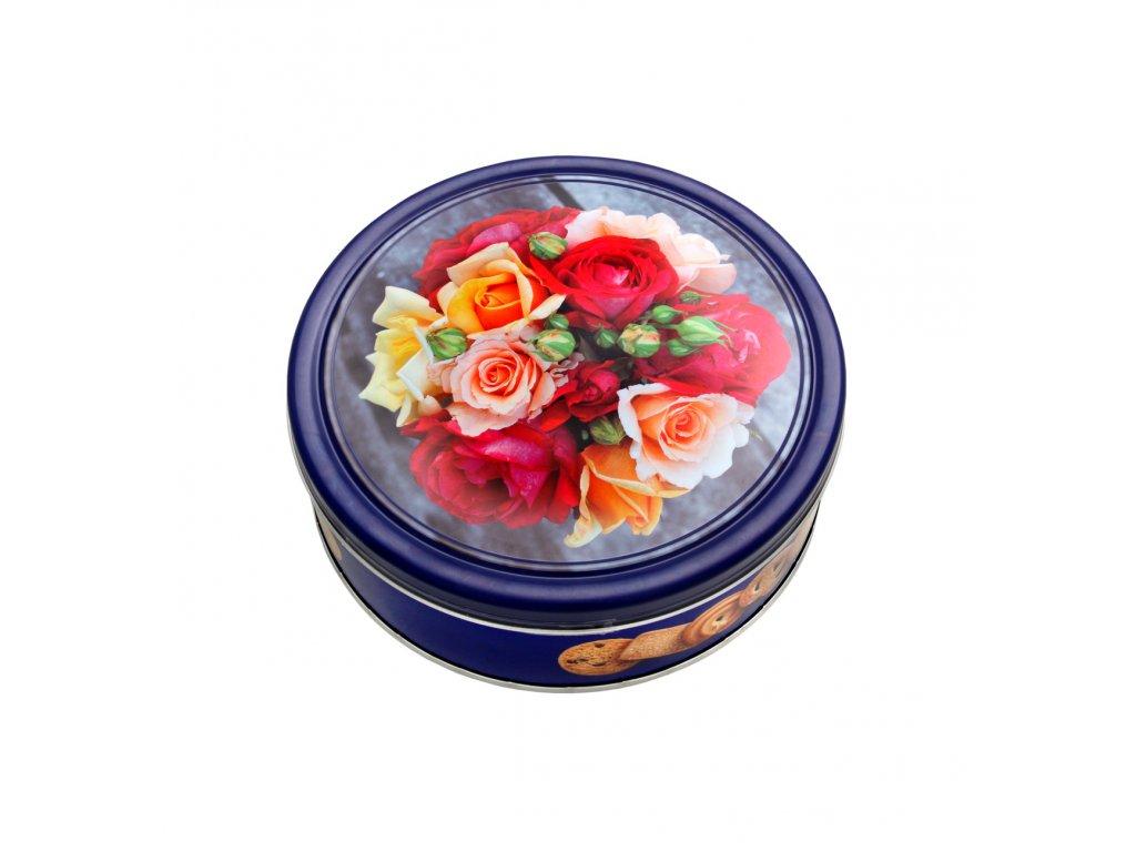 Gunz máslové sušenky v plechové dóze Květiny 454g