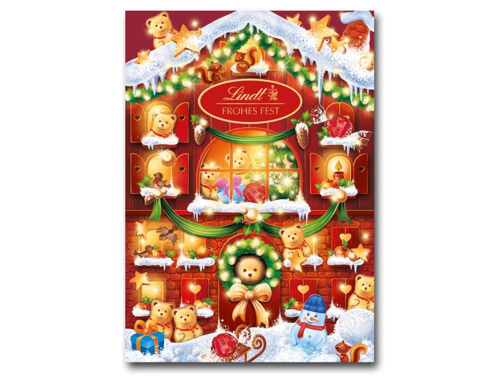 Lindt Adventní kalendář Teddy domeček 172g