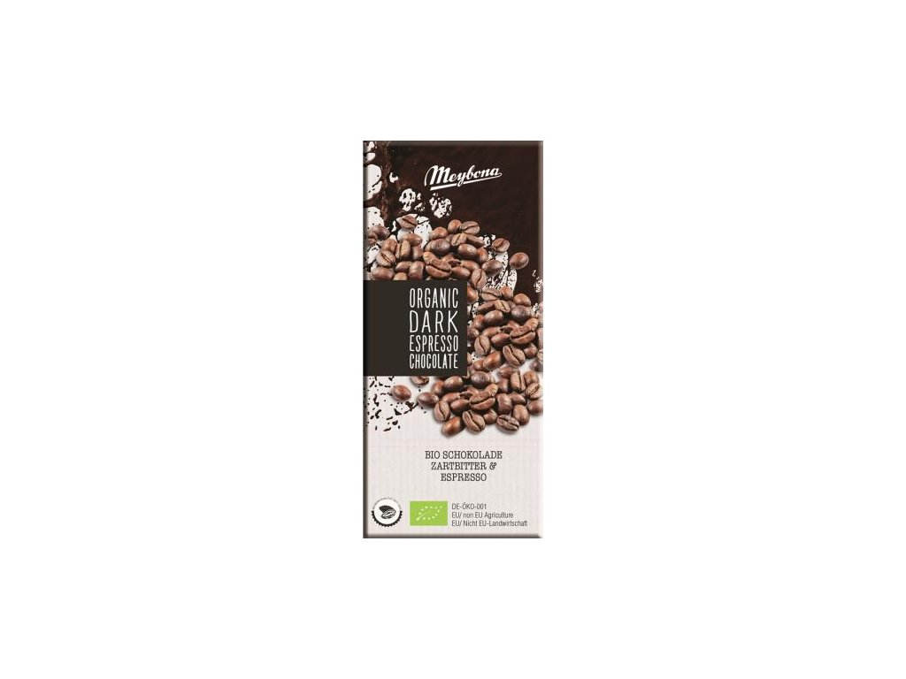 Meybona bio Hořká čokoláda s kávou 100g