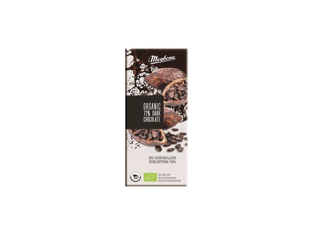 Meybona Bio Hořká čokoláda 72% 100g